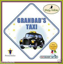 Grandad's Taxi Car Window segno sicurezza non personalizzata come Baby a bordo