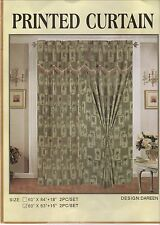 Palm Tree Curtain Set @ Valance & Tassel TieBacks BONUS Queen Sheer Bed Skirt