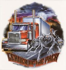 BIG RIG LEADER OF THE PACK TRUCKER WOLVES & FULL MOON VINYL STICKER/DECAL By ODM