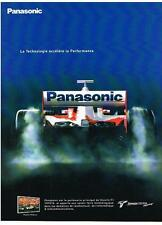 PUBLICITE ADVERTISING  2002    PANASONIC  TOYOTA   RACING