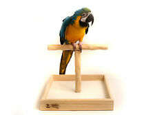 Deluxe Tabletop NU Perch - Large Tabletop Perch Stand for Macaws and Big Parrots