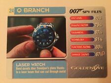 Laser Watch Goldeneye #24 Q Branch - 007 James Bond Spy Files Card