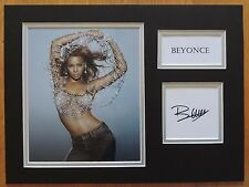BEYONCE - DESTINYS CHILD - SUPERB SIGNED DISPLAY - FULL SIGNING DETAILS  COA