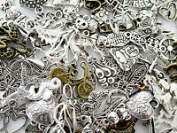 50 Assorted Selection Of Mixed Random Selection Of Craft Charms & Pendants