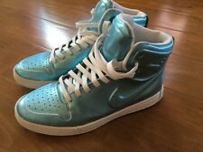 Women's Size 6 1/2 Nike Special Edition Metallic Baby Blue High Tops