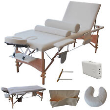 "3 Fold 84""L Portable Facial Bed Massage Table W/Sheet+Cradle Cover+ Bolster"