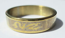 Gold Dragon Stainless Steel Ring - Size 10.5  (20.2mm)