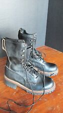 GREAT COND FEW TIMES USED VINTAGE RED WING LOGGER BOOTS MEN 5C MADE IN USA