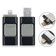 128GB Flash Drive USB Memory Stick U Disk 3in1 for Android IOS iPhone 5 6 6S PC