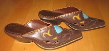 SO Wms Brown Western Mules Oakley Brown 9.5