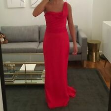 JIM HJELM OCCASION RED BRIDES MAID DRESS, SIZE 4