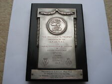 11966 THE MOTORISTS TROPHY PRESENTED BY THE A.A&R.A.C. CYCLING PROFICIENCY PRIZE