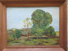 Old Vintage Oil Painting on Board J.Palmer 1956 Landscape Trees
