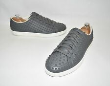 Gucci Studded Leather Trainers Sneakers Miro Grey UK Size 9 US 10 322736