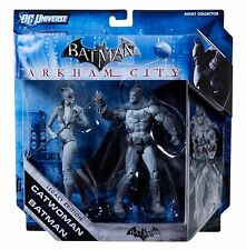 DC UNIVERSE BATMAN ARKHAM CITY CATWOMAN & BATMAN SET LEGACY EDITION NEW