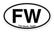 """FW Fort Worth Texas Oval car window bumper sticker decal 5"""" x 3"""""""