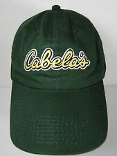 CABELA'S SPORTING STORE OUTDOOR HUNTING FISHING GREEN YELLOW ADVERTISING HAT CAP