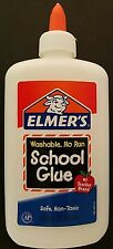 ELMER'S NO RUN SCHOOL GLUE Dries Clear Washable Nontoxic, 7.6 Oz/Bottle (225 mL)