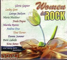 Women In Rock 3CD Classic 60s 70s 80s LESLEY GORE DONNA SUMMER TINA TURNER Great