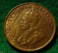 1925 Canada Small Cent King George V UNC * KEY DATE * No-Res CANADIAN