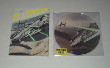 """STAR WARS THE FORCE AWAKENS 10"""" VINYL RECORD PICTURE DISC & MAGAZINE W/ POSTER"""