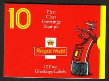 GB 1991 KX3A GREETING STAMPS LAUGHING PILLAR BOX 10 X 1ST CLASS BARCODE BOOKLET