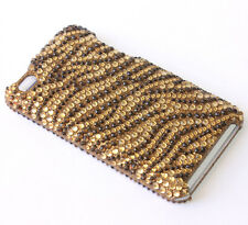 for iPod Touch 4th Generation - GOLD Tiger Skin Diamond Bling Hard Case Cover
