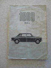 Original 1968 Austin 1800 Mark II owner's manual - BMC publication