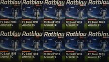 10 x official Programme UCL 2016/17 FC Basel vs Arsenal FC