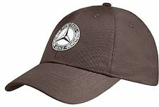 Mercedes-Benz Men Cap Classic Brown Cotton   Genuine New 2016 Collection  *1516