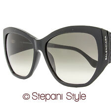Balenciaga Cateye Sunglasses BA22 01B Black BA0022