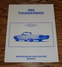 1965 Ford Thunderbird Specification & Feature Manual 65
