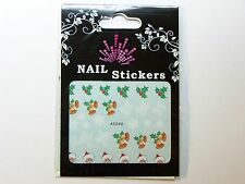 Christmas, Water Nail Sticker Tatoo, Weihnachten , AS040