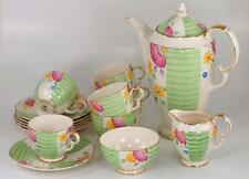 Crown Devon Fieldings Art Deco Coffee Set Rare 15 Piece Beverley 3217 Porcelain