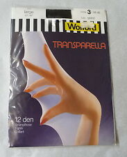 New in packet Wolford 'Transparella' tights.  Size 3, Large.  Colour: Black