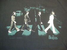 The Beatles Abbey Road Album Cover Silhouettes Black T Shirt Size L