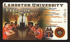 2002 Langston Lions Football Magnet Schedule