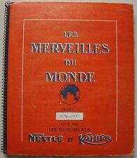 Les Merveilles du Monde Volume 3 1956-1957 Nestlé Kohler complet