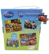 Disney Pixar Super 3D Effect 4x 48 Piece Puzzle Pack New And Boxed