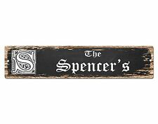 SP0790 The SPENCER'S Family name Sign Bar Store Shop Cafe Home Chic Decor Gift
