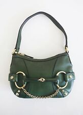 GUCCI HORSEBIT MINI BAG Green Leather TOM FORD Clutch Small Handbag Italy Purse