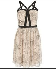 BNWT �� Coast  ��  Size 14 Carmelina Animal Print Summer Dress Black Pink new