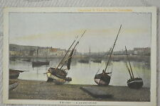 """CPA """" FECAMP - L'Avant-Port - Chocolat & Thé de la Cie Coloniale"""