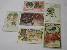 Lot of Early 1900s Christmas Postcards Animals Scenes Embossed Germany Old Vtg