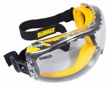 Dewalt Safety Goggles Clear Lens Anti Fog Concealer Dual Mould dpg82-11d