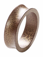 Rustic Ladies Crackle Effect Brown / Gold Concave Bangle (Cl10/zx80/159/232)