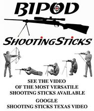 Bipod Shooting Stick - Loop top design for maximum versatility - with carry case