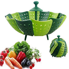 Multifunctional Silicone Folding Steamer Basket Non-scratch Food Cooking Steamer