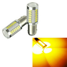 2pcs 1156 BAU15S PY21W LED Daytime Running Light Amber Orange Yellow Bulb 33SMD