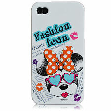 For iPhone 4 4S Minnie Mouse Fashion Icon Disney Mickey Series TPU Silicone